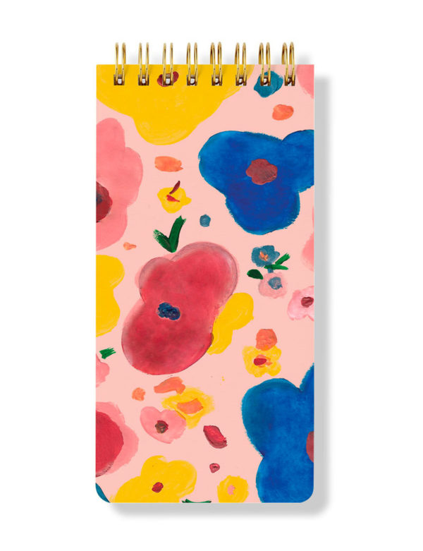 Floral Spiral Notepad