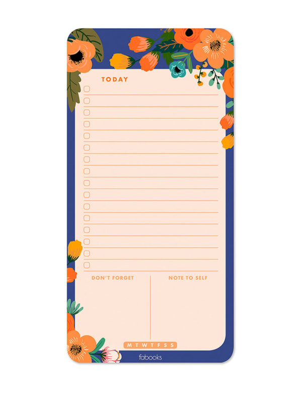 Dream Garden Daily Planner Notepad, Daily Schedule, To-Do List