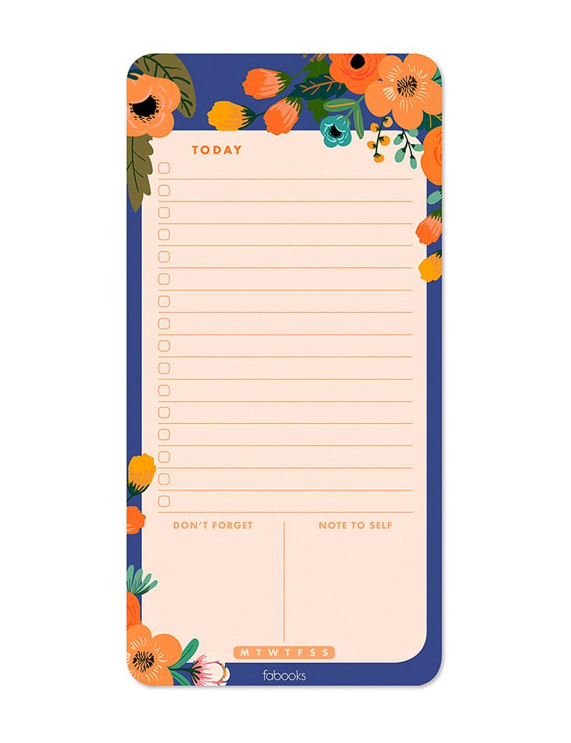 Dream Garden Daily Planner Notepad, Daily Schedule, To-Do List