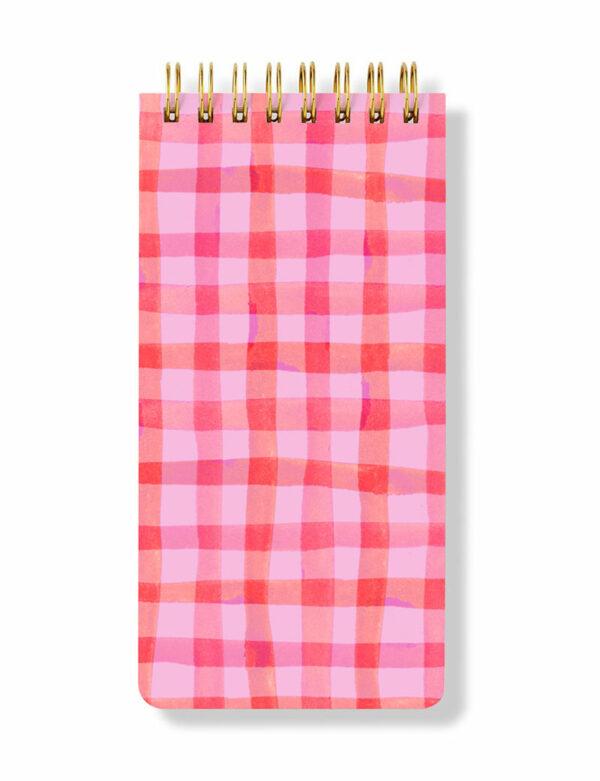 Checkered Spiral Notepad