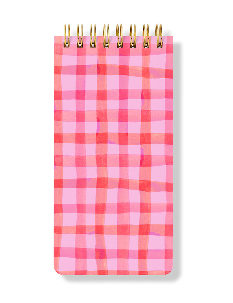 Checkered Spiral Notepad