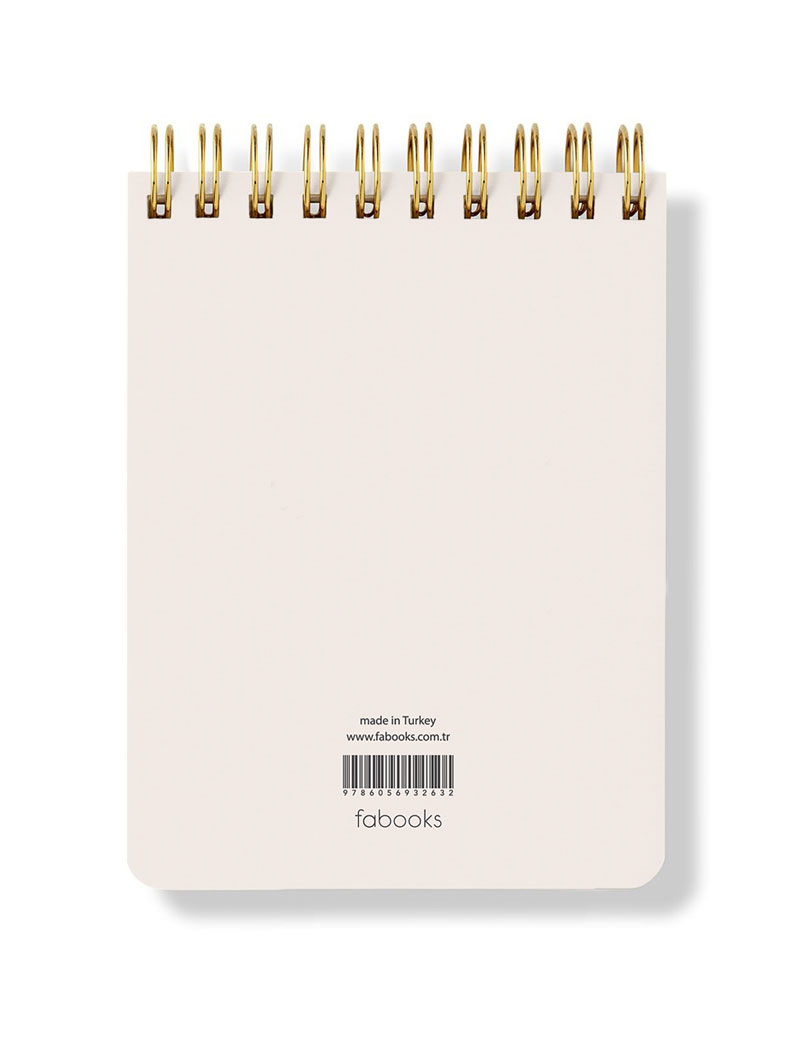 Perfect Is Boring Spiral Notepad - Hardcover, Plain