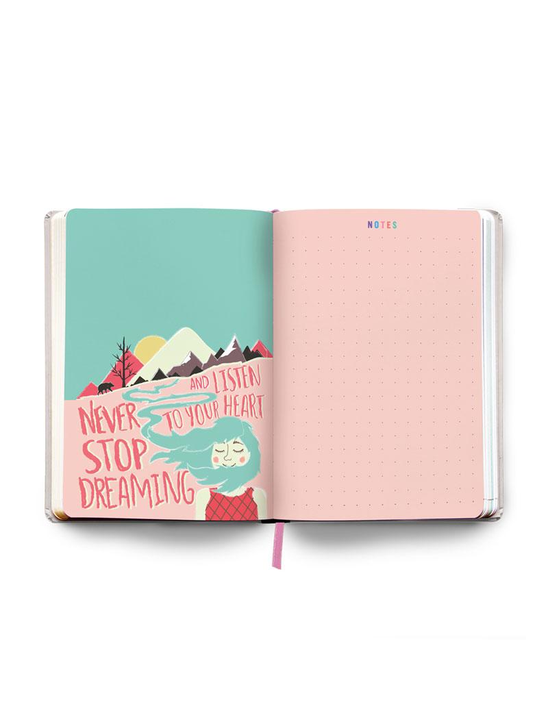 Pink Undated Planner