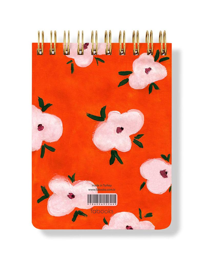 Orange Spiral Notepad