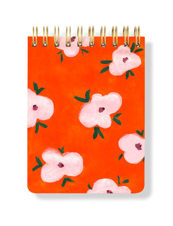 Orange Spiral Notepad