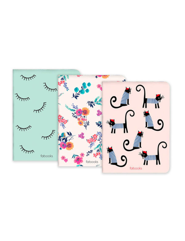 Cat Set Of 3 Notebooks
