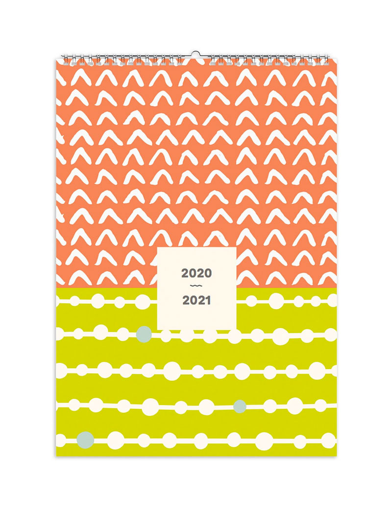 Abstract 2020-2021 Mid-Year Family Calendar
