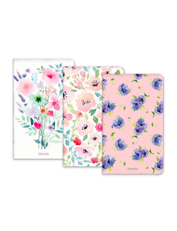 Botanic Set Of 3 Notebooks
