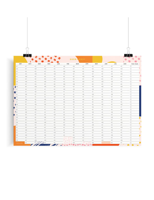 2020-2021 Mid-Year Geometric Academic Year Planner, Calendar