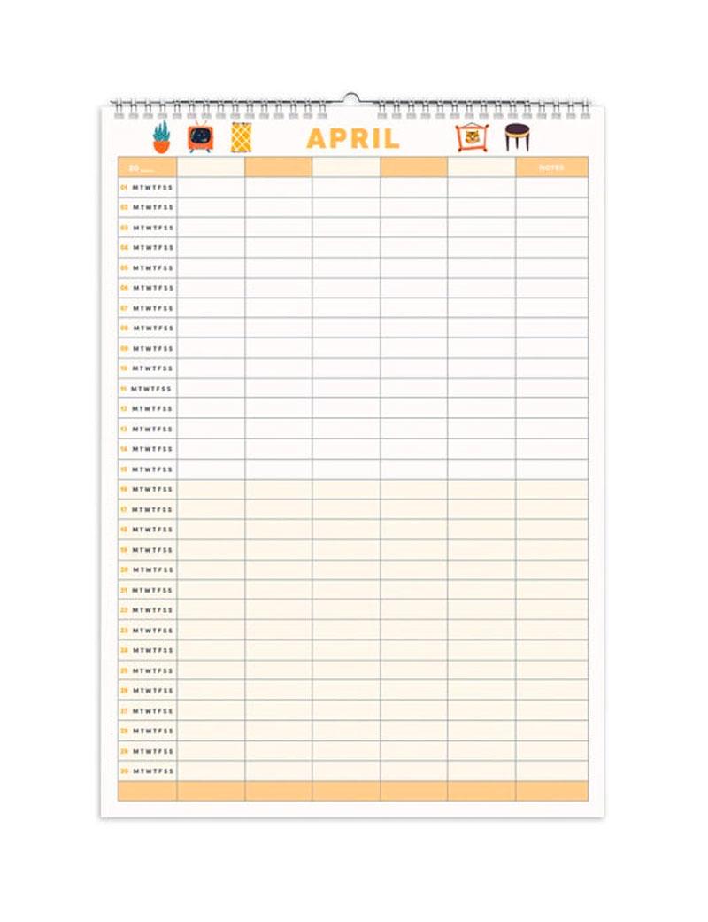 Undated Calendar