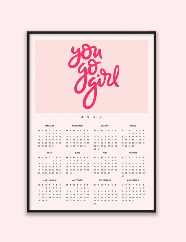 You Go Girl 2020 Wall Calendar