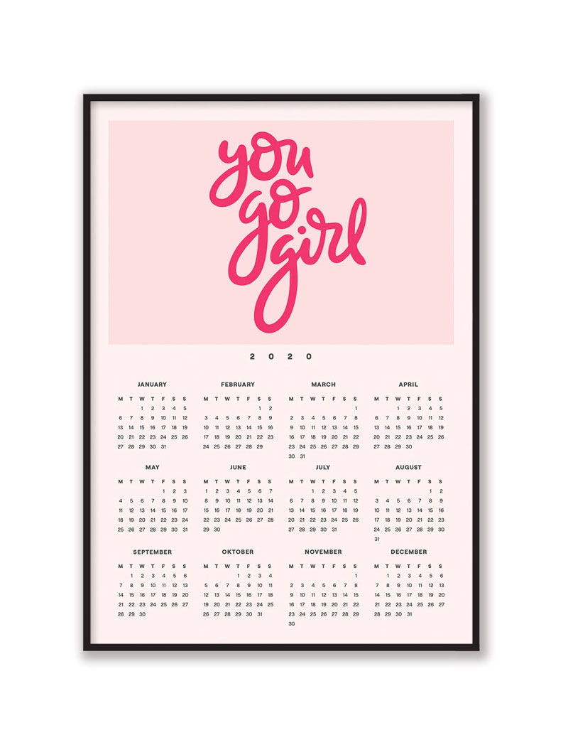 You Go Girl 2020 Wall Calendar
