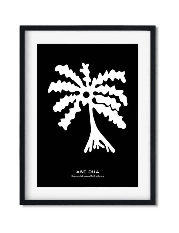 Abe-Dua, The Adinkra Symbol, African Art Print Black