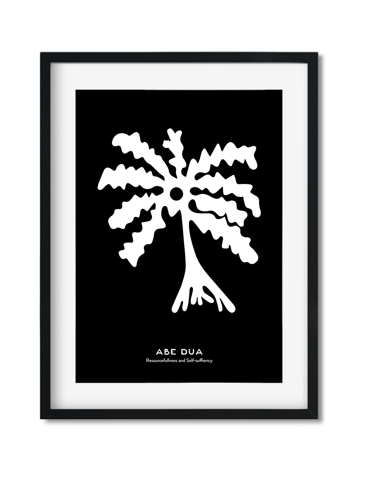 Abe-Dua, The Adinkra Symbol, African Art Print Black