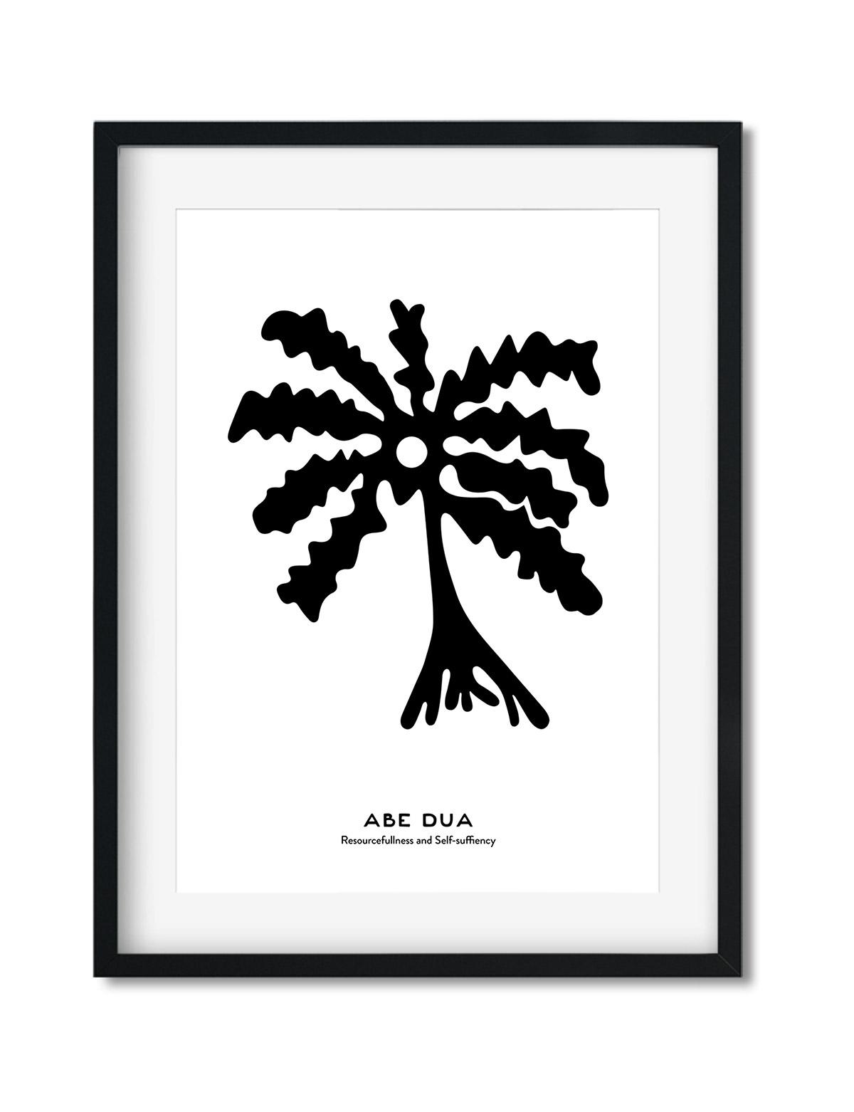 Abe-Dua, The Adinkra Symbol, African Art Print