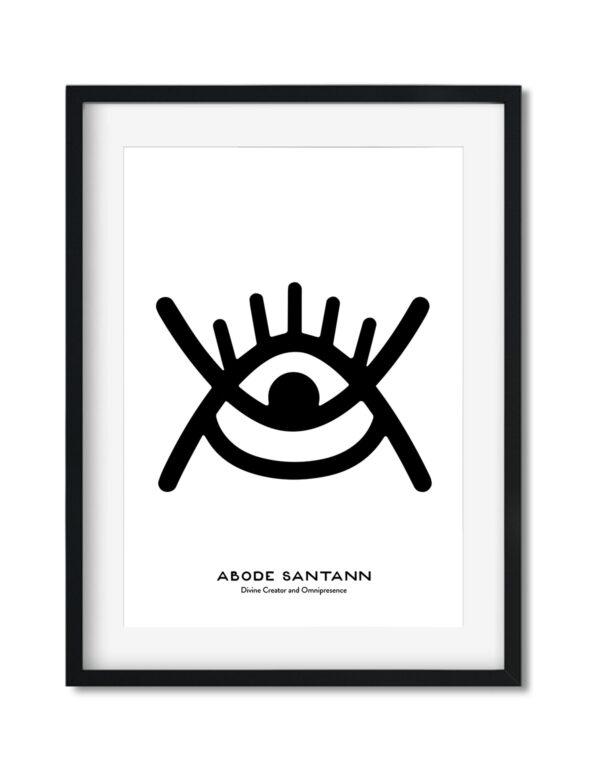 Adobe Santann, Adinkra Symbol, African Art Print