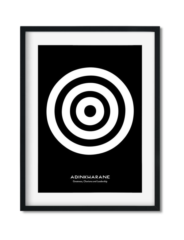 Adinkrahene, Adinkra Symbol, African Art Print Black