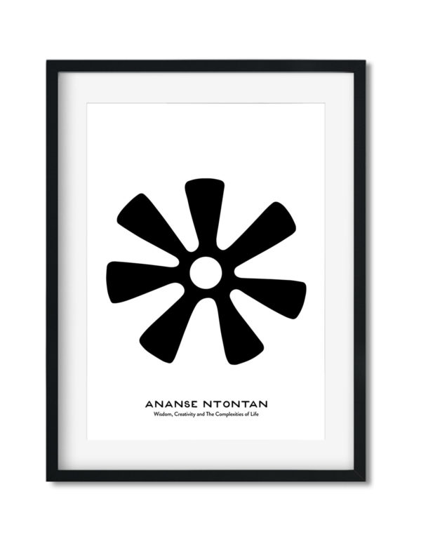 Ananse Ntontan, Adinkra Symbol, African Art Print