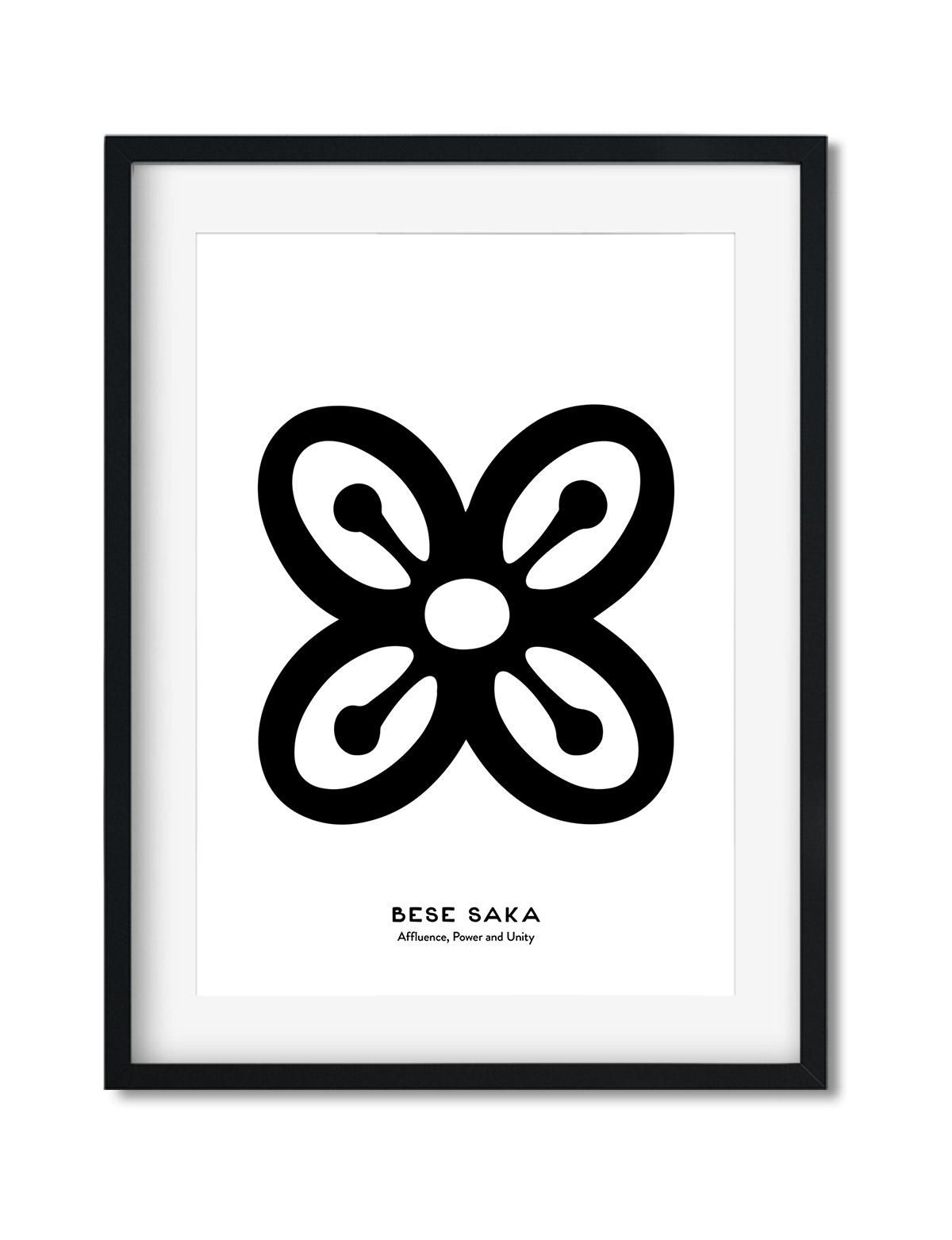 Bese Saka, Adinkra Symbol, African Art Print