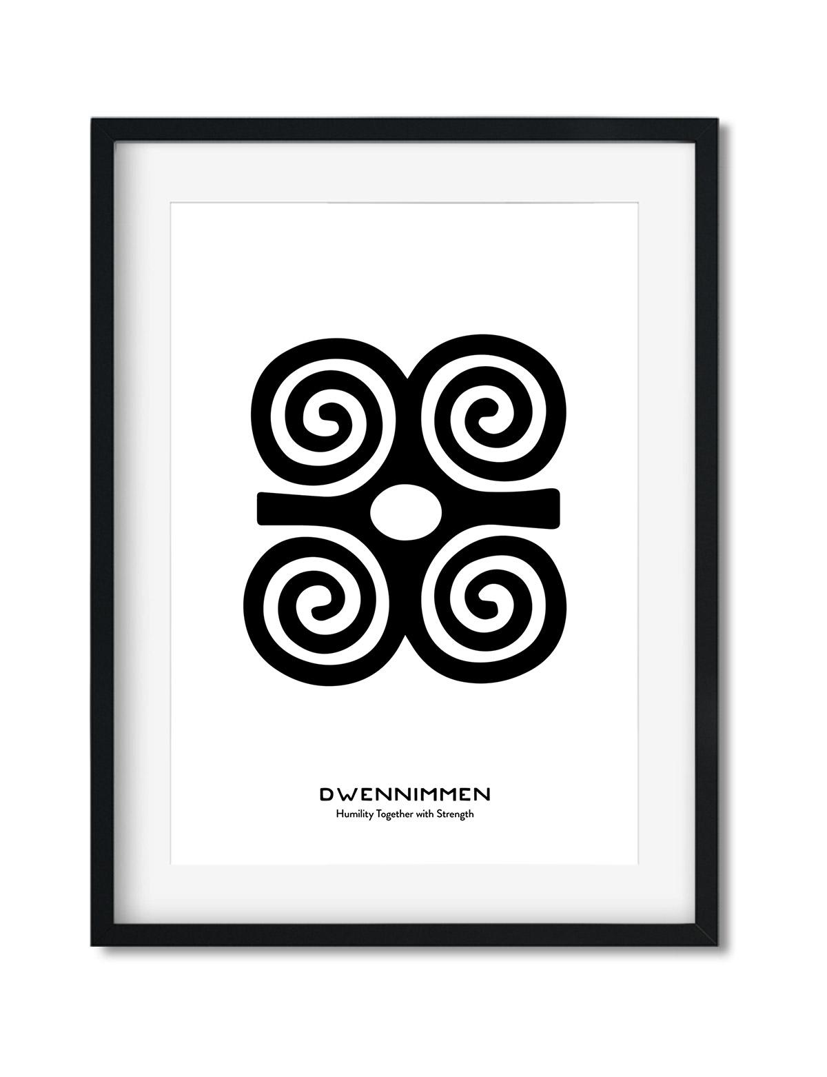 Dwennimmen, Adinkra Symbol, African Art Print