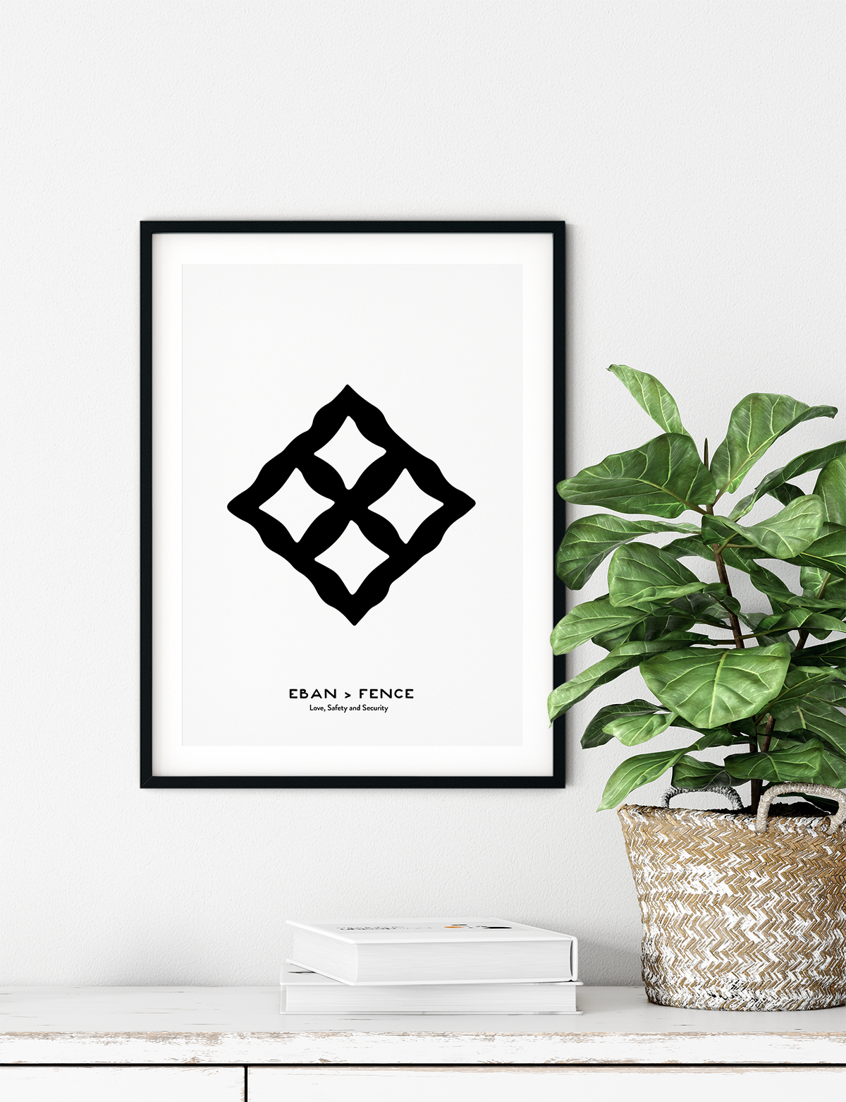 Eban, Adinkra Symbol, African Art Print