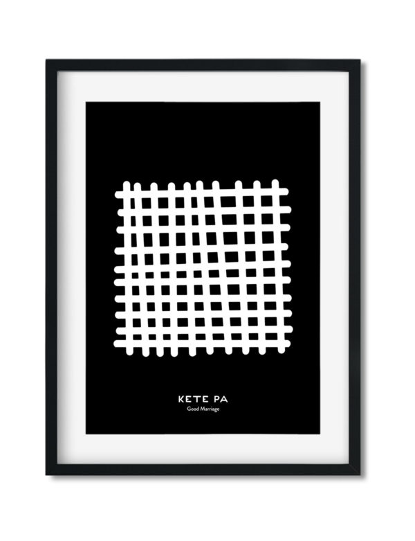 Kete Pa, Adinkra Symbol, African Art Print Black