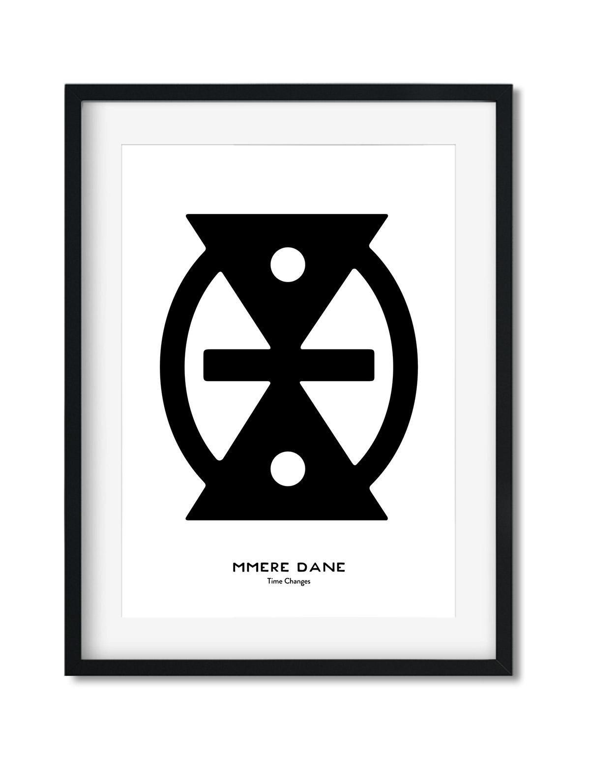 Mmere Dane, Adinkra Symbol, African Art Print