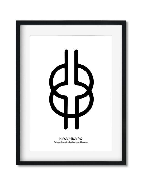 Nyansapo, Adinkra Symbol, African Art Print