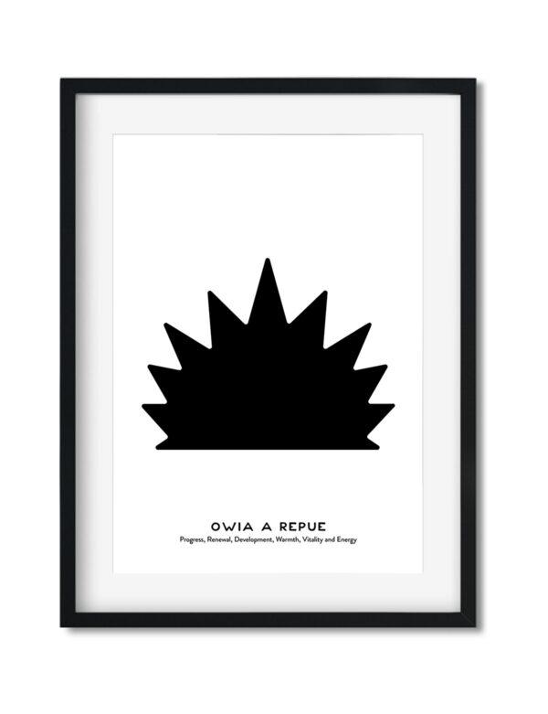 Owia A Repue, Adinkra Symbol, African Art Print