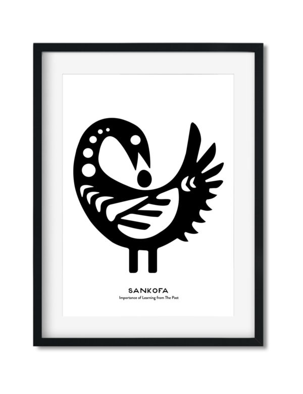 Sankofa Bird, Adinkra Symbol, African Art Print