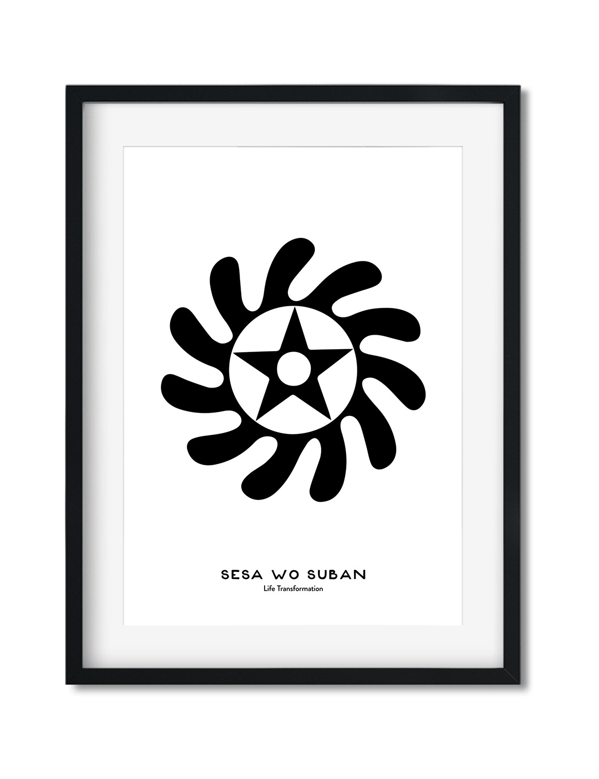 Sesa Wo Suban, Adinkra Symbol, African Art Print