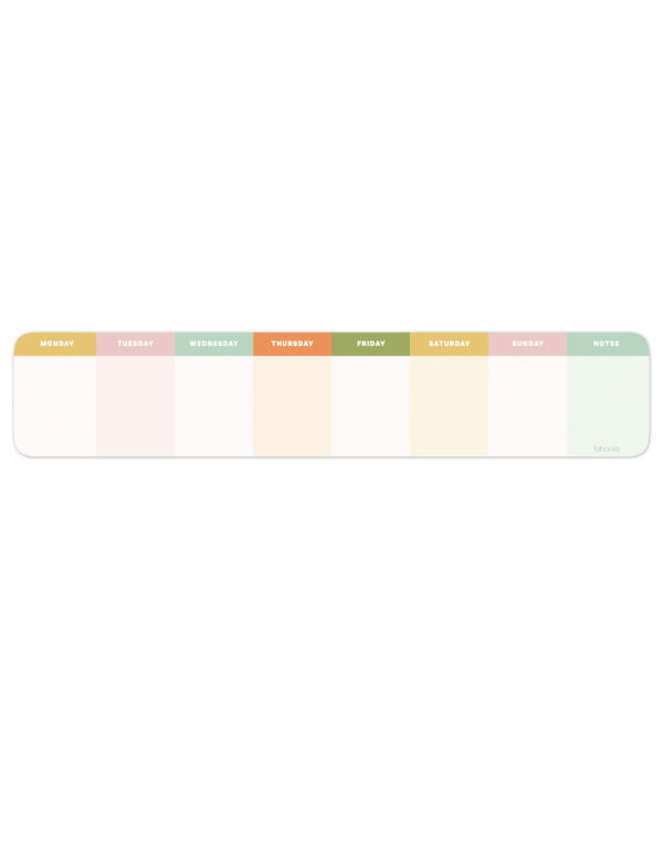 Colourful Weekly Undated Desktop Planner Notepad