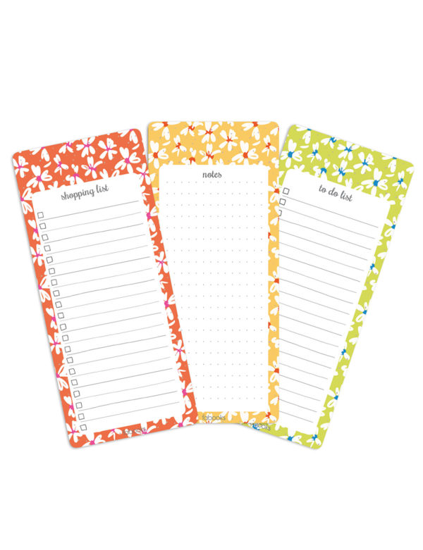 Daisy Set Of 3 Notepads