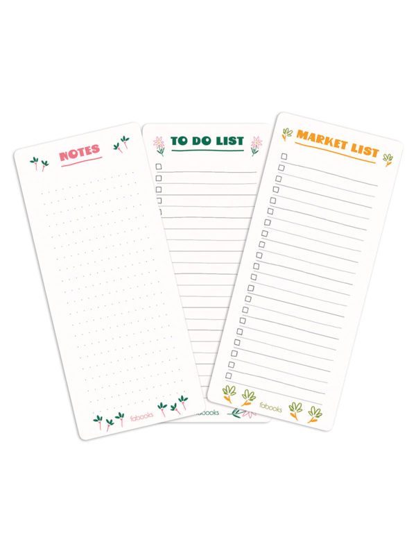 With a cute mini flowers border design, this handy notepad set of 3 is great for whenever you need it. You can use it for your to-do lists, shopping lists and taking notes.