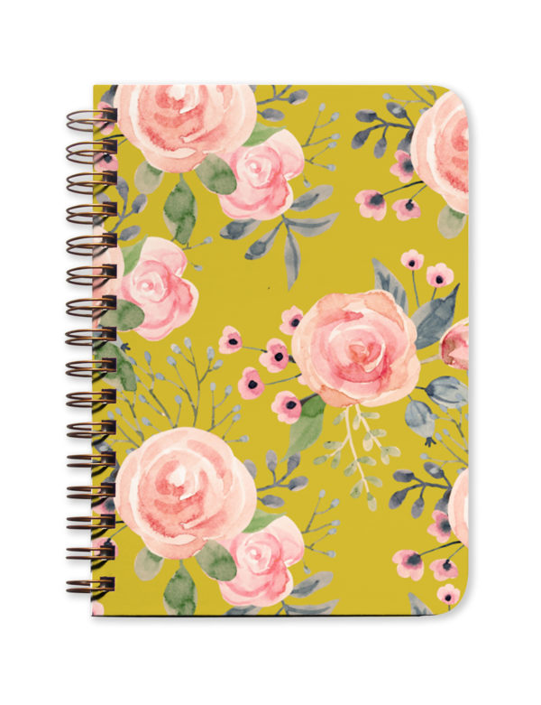 Green Floral Undated Planner