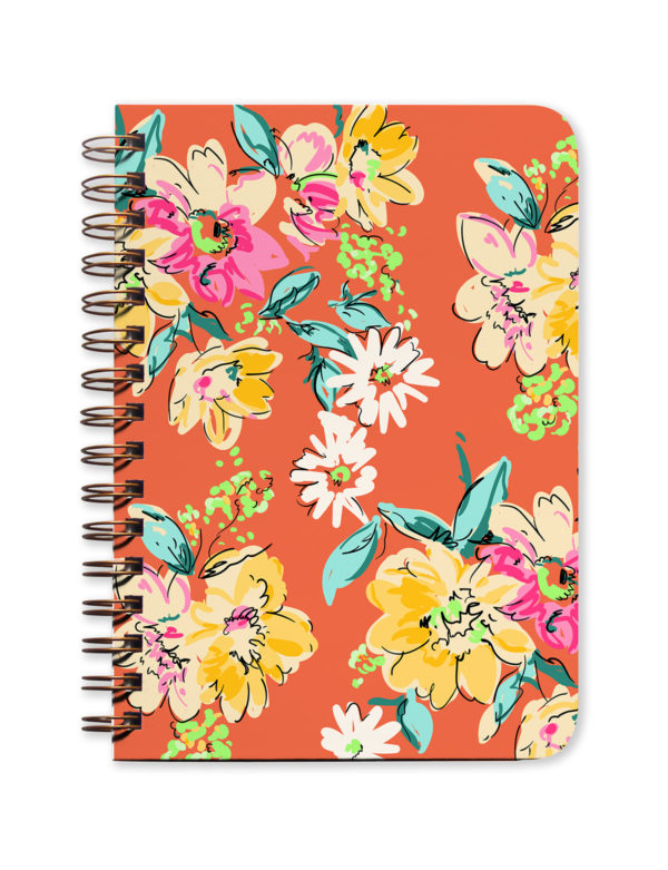 Orange Floral Undated Planner