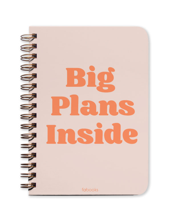 Big Plans Inside Undated Planner