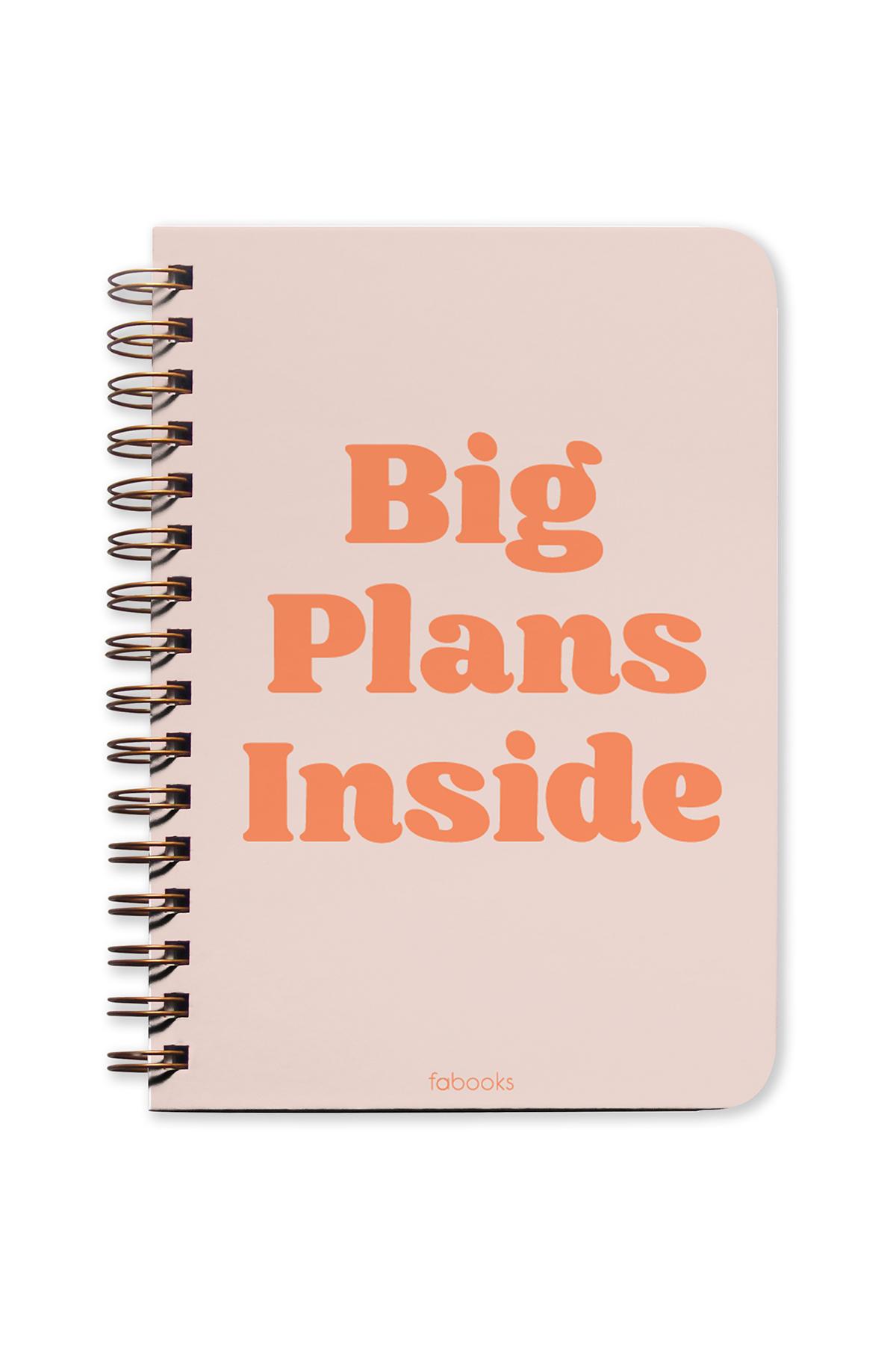 Big Plans Inside Undated Planner