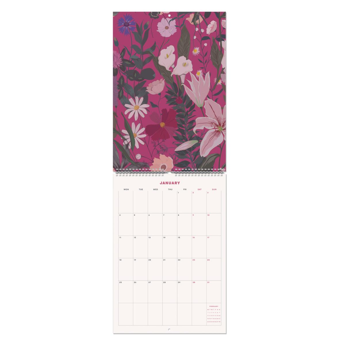 Orange 2021 Monthly Wall Calendar A4