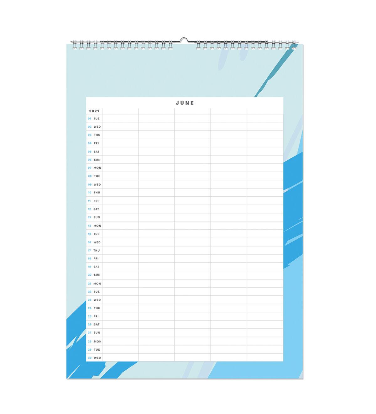 Geometric 2021 Monthly Wall Calendar A3