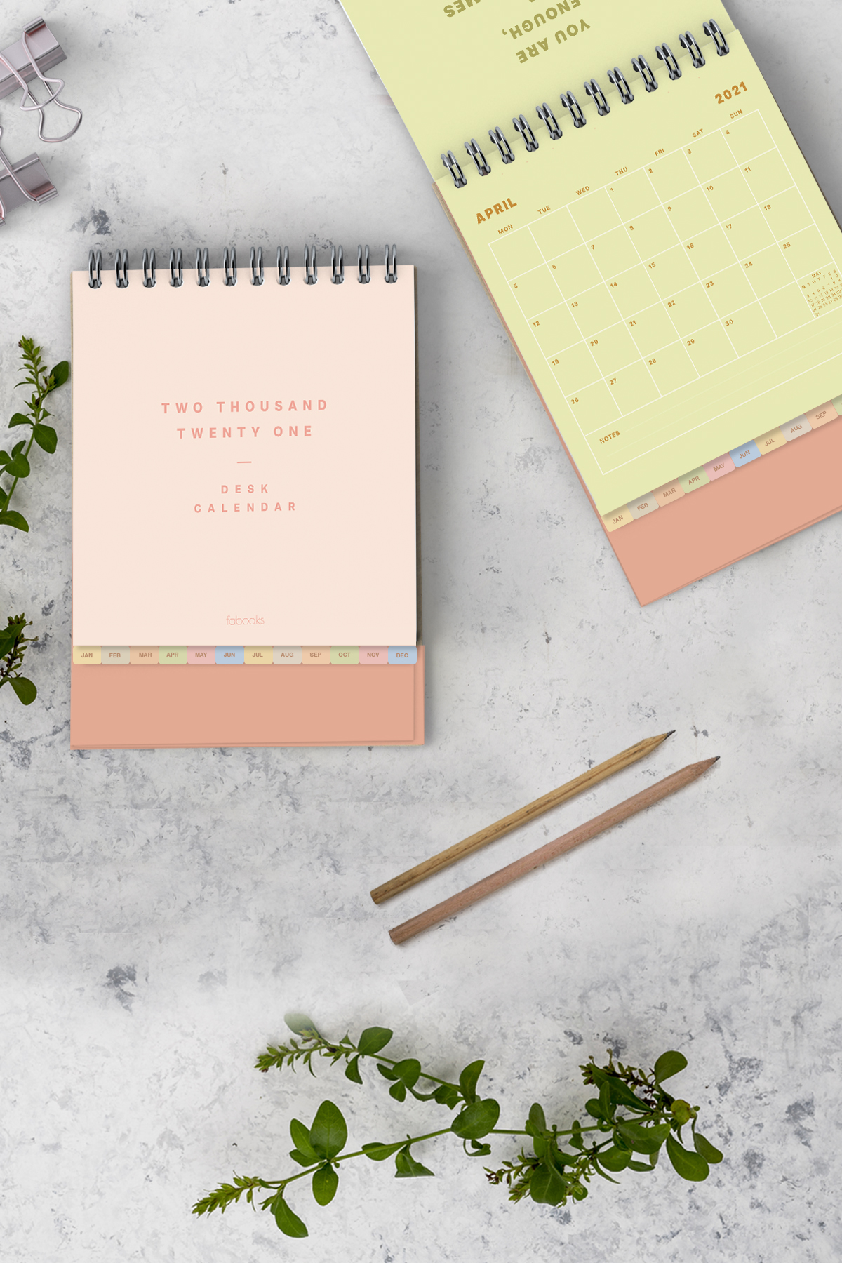 Minimal Standing Desktop Calendar