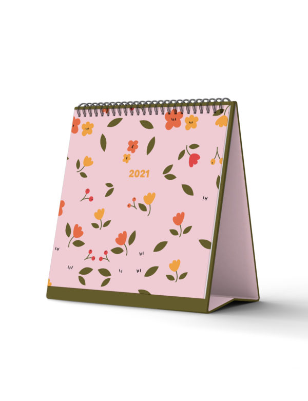 Bloomy Standing Desktop Calendar 2021