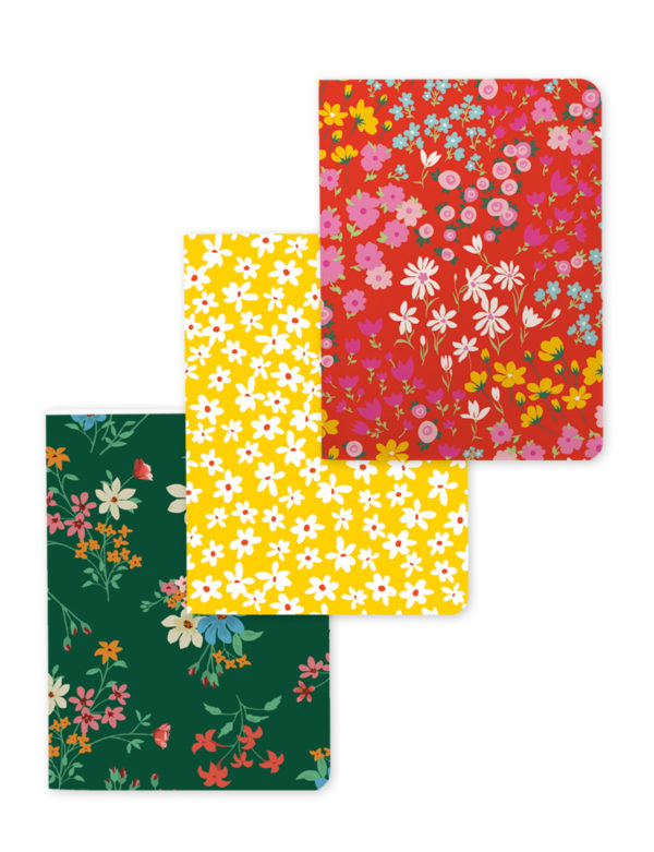 Mini Floral Set of 3 Notebooks