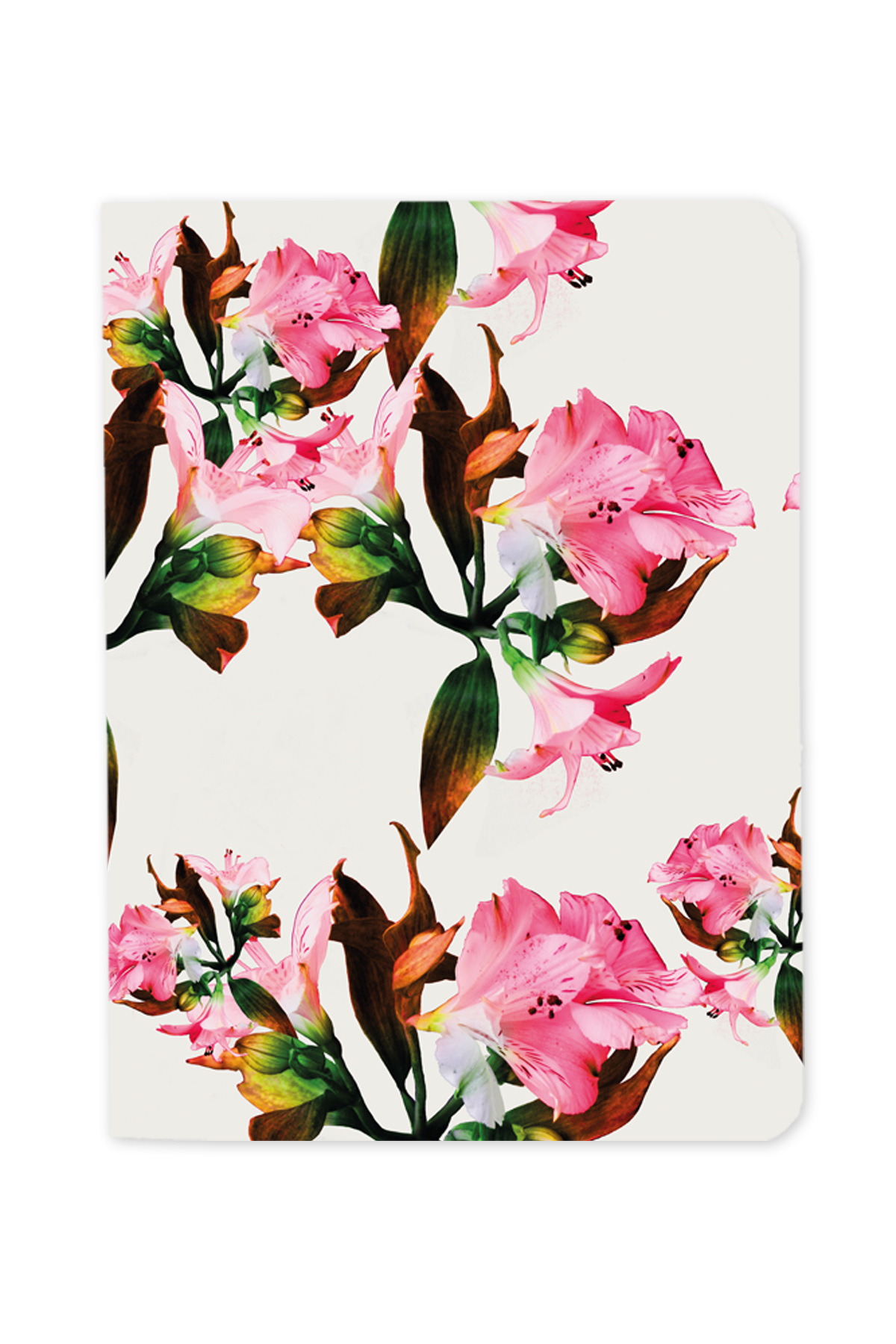 Pink Flowers Set of 3 Notebooks