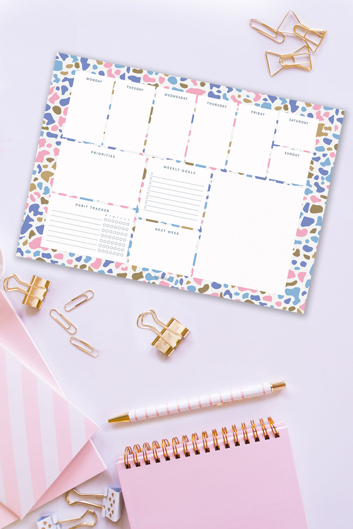 Terrazzo Weekly Planner Notepad