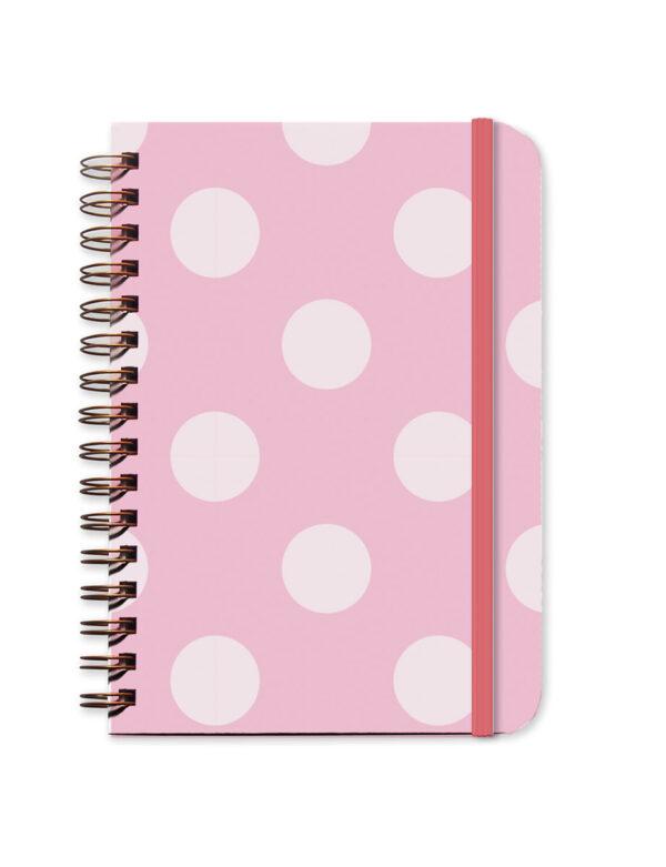 Pink Polka Dot Undated Planner