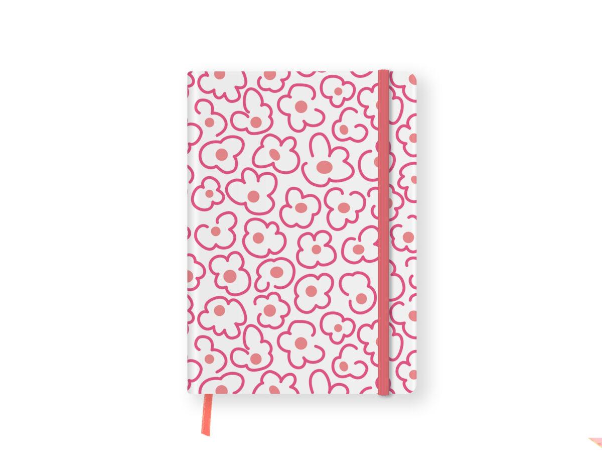 Pink Floral Undated Planner