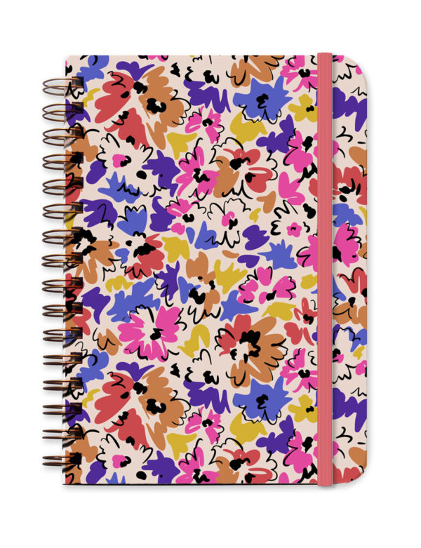 Pink Purple Floral Undated Planner