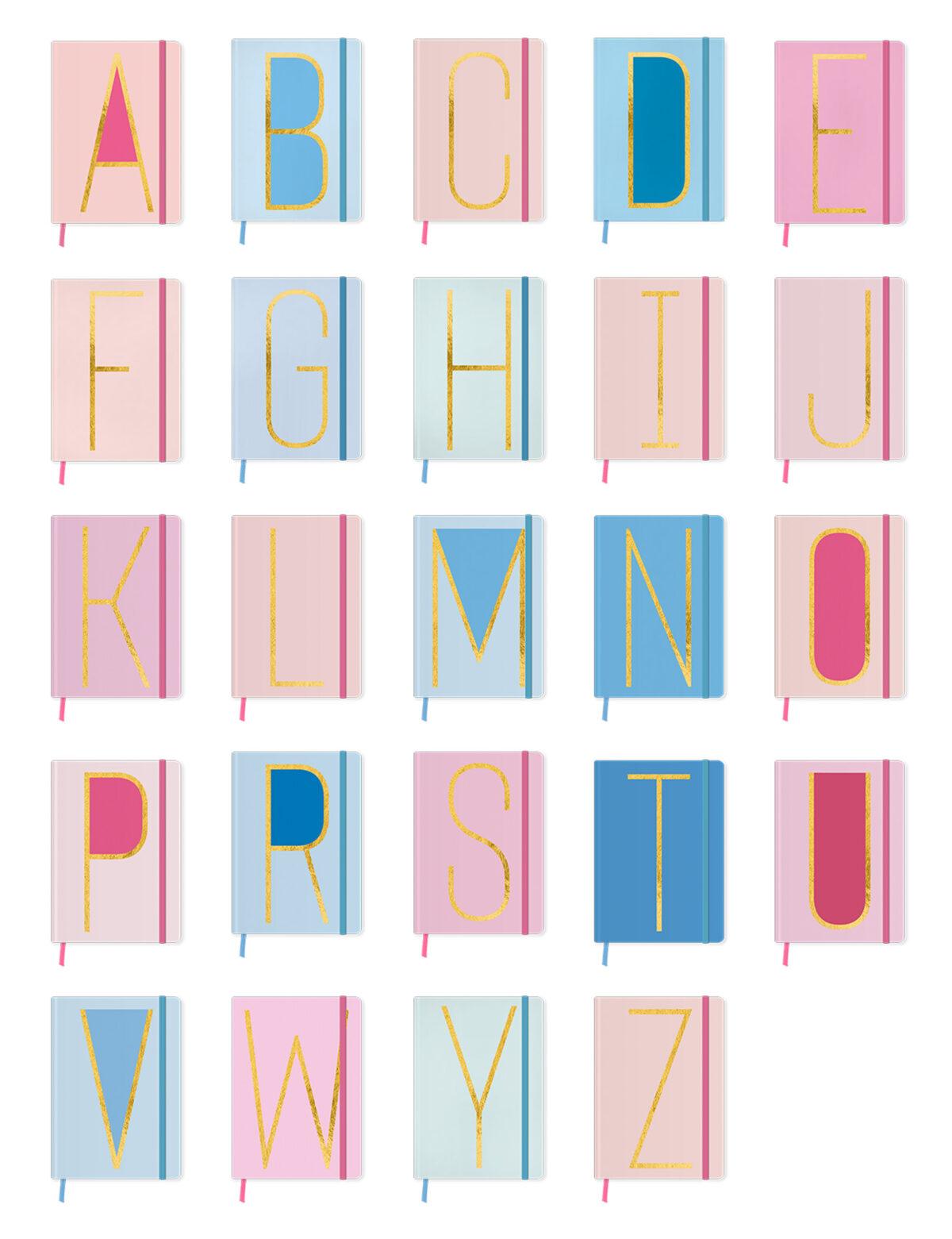 Alphabet Monogram Notebook: A-Z