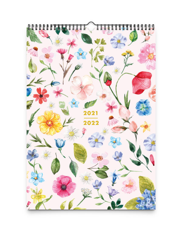 2021–2022 Blush Family & Academic Wall Planner, A4